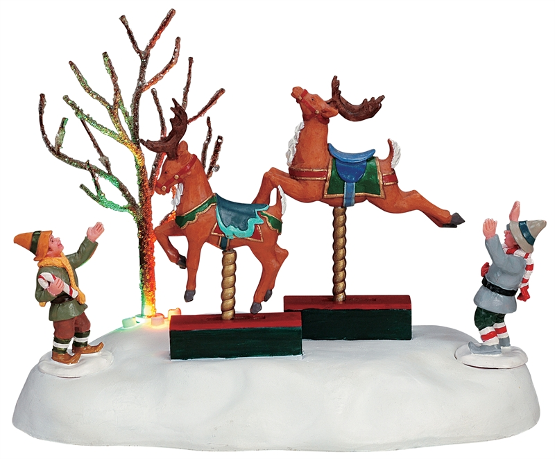 Rocking Reindeer | Item 64494 |Table Pieces (Lighted / Animated ...